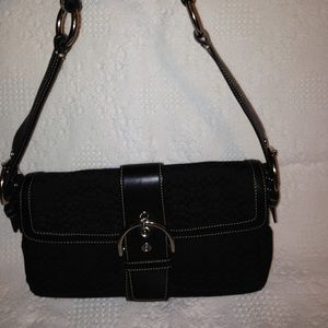 👛 COACH 👛 black buckle soho flap bag 1463